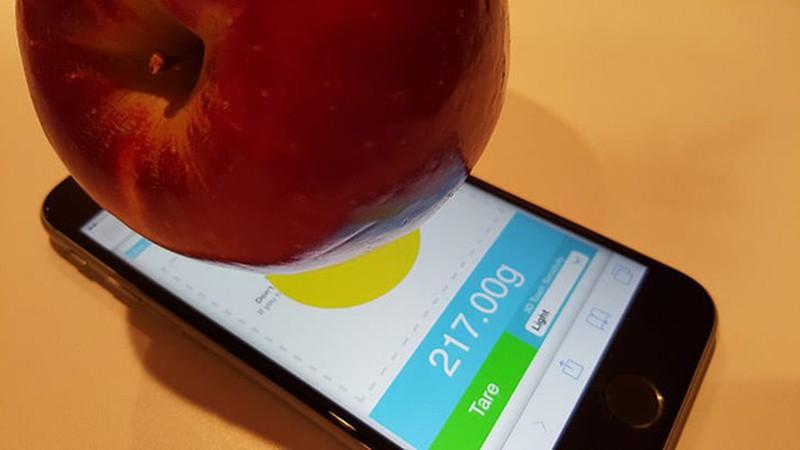 Cách hô biến iPhone thành cân điện tử cực đơn giản