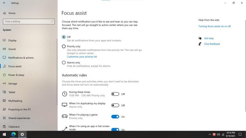 Hướng dẫn đầy đủ tất cả các cách tắt thông báo trên Windows 10 3