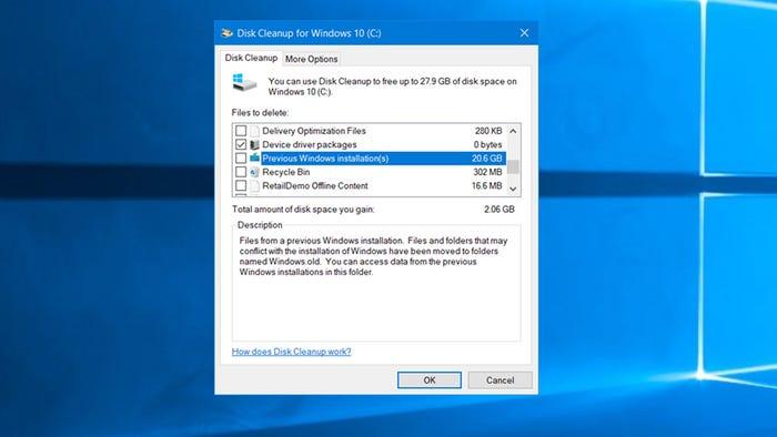 Cách xóa 'Windows.old' giúp giải phóng 20 GB dung lượng trên PC 4