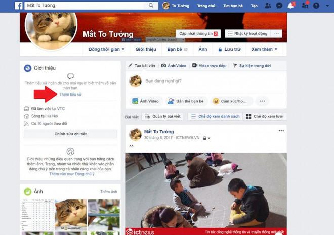 Hướng dẫn tạo tiểu sử Facebook bằng trình phát nhạc bài hát 1