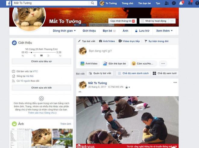 Hướng dẫn tạo tiểu sử Facebook bằng trình phát nhạc bài hát 4