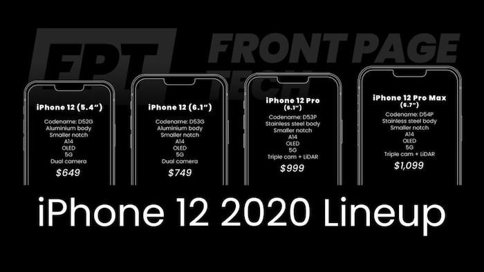 Nóng: Lộ giá bán tất cả các mẫu iPhone 12 Apple sẽ ra mắt vào mùa thu năm nay 2