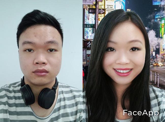 FaceApp nguy hiểm, người Việt vẫn đua nhau dùng để đổi giới tính ảnh 1