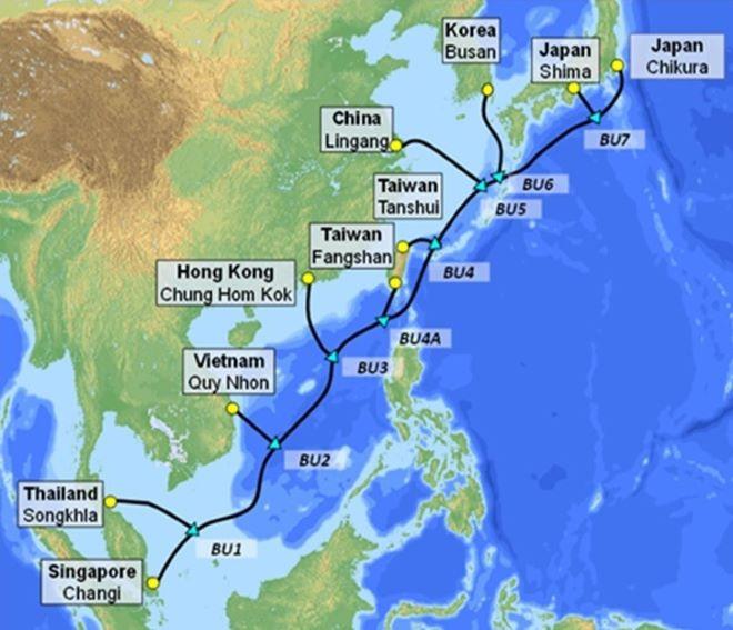 Việt Nam có thêm tuyến cáp quang biển SJC2, cập bờ tại Quy Nhơn 1