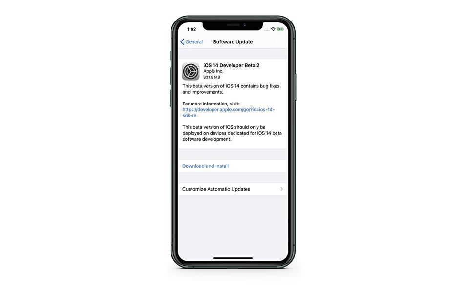 Apple phát hành iOS/iPadOS 14 beta 2, cập nhật ngay nào!!! 1