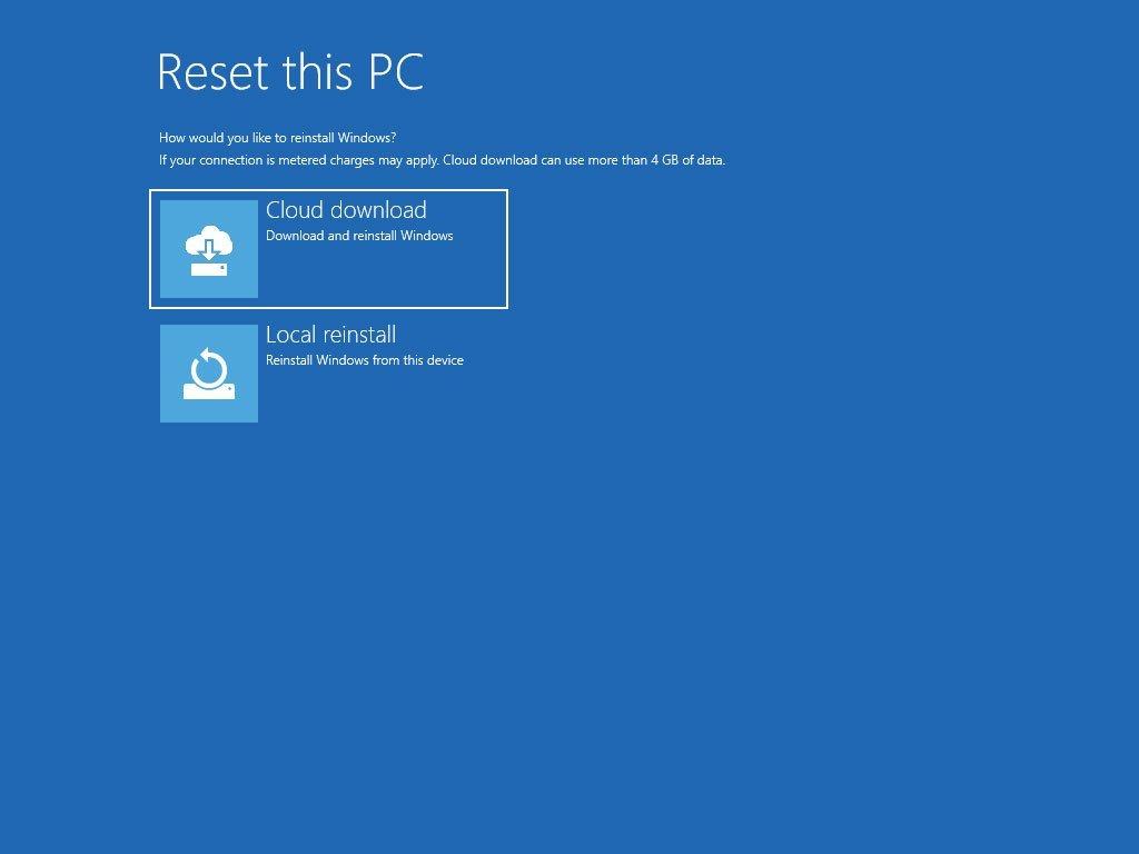 Cách cài lại Windows 10 từ đám mây của Microsoft bằng tính năng Cloud Recovery 10