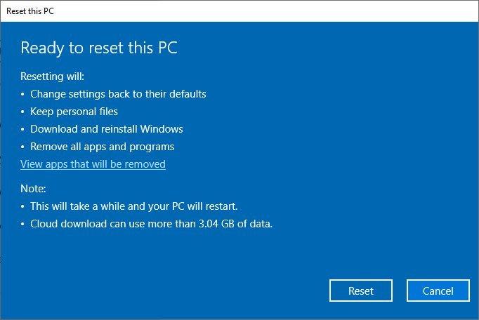 Cách cài lại Windows 10 từ đám mây của Microsoft bằng tính năng Cloud Recovery 6