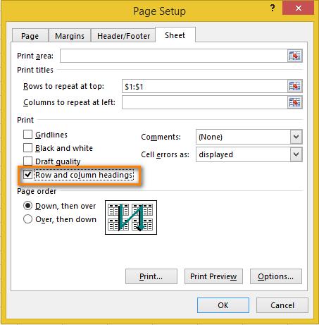 Cách lặp lại tiêu đề trong Excel khi in 11