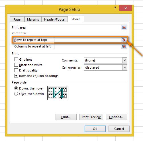Cách lặp lại tiêu đề trong Excel khi in 2