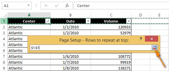 Cách lặp lại tiêu đề trong Excel khi in 4