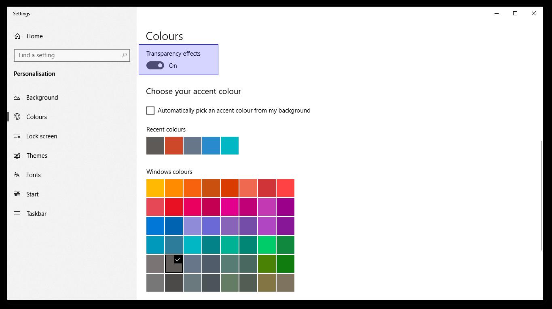 4 cách làm trong suốt thanh Taskbar Windows 10: Biến desktop bạn trở nên độc lạ 6
