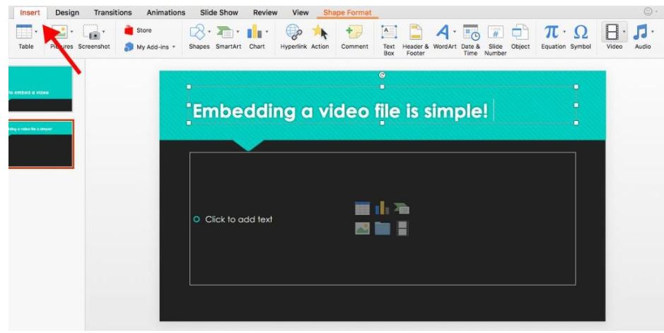 cách chèn video vào PowerPoint