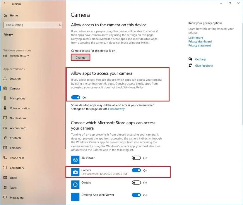 Tuyển tập các cách sửa lỗi camera Windows 10 triệt để tận gốc 3