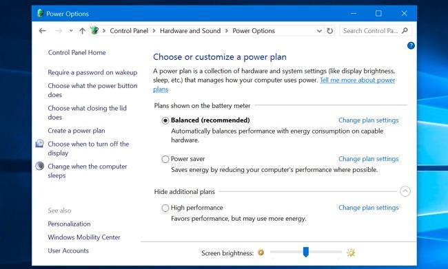 Cách chỉnh độ sáng màn hình Windows 10.