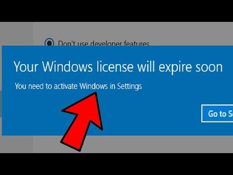 lỗi 'Your Windows licence will expire soon' Windows 10