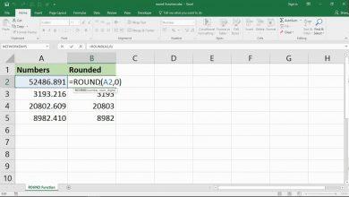 làm tròn số Excel