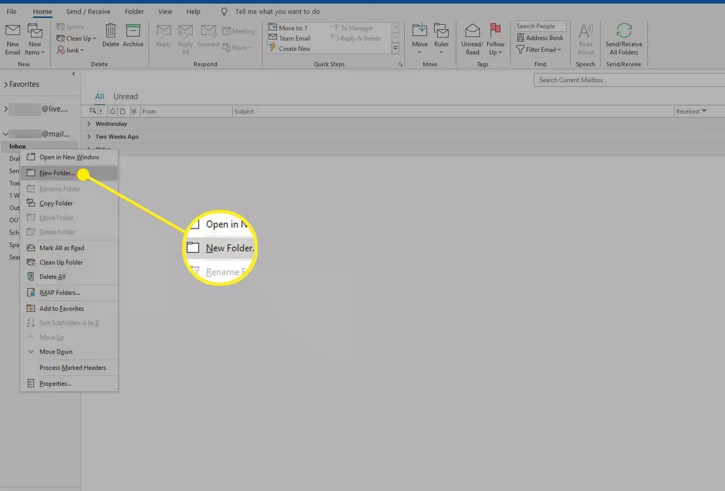 Cách tạo folder trong Outlook biến việc quản lý mail không còn là ác mộng 2