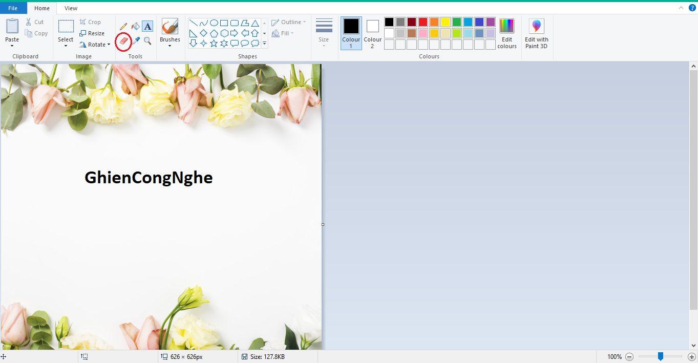 cách tách chữ ra khỏi ảnh bằng Paint