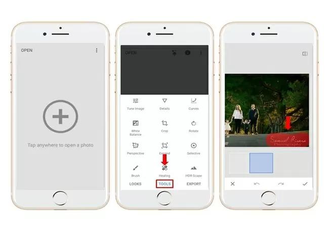 Cách xóa chữ trên ảnh iPhone