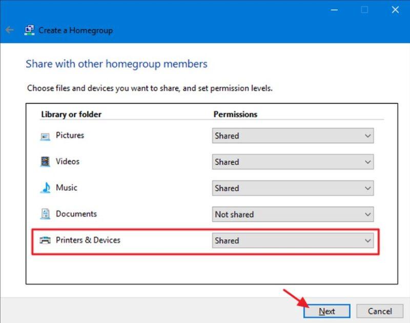 Cách chia sẻ máy in qua mạng LAN trên Windows 7, 8 và 10 siêu dễ 4