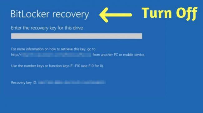 Cách tắt BitLocker trong BIOS.