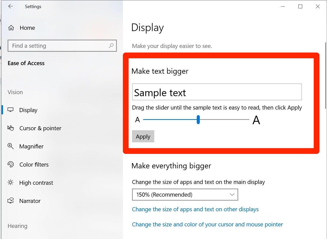 Cách chỉnh cỡ chữ trên màn hình Win 10, tuy đơn giản nhưng không nên xem thường 6