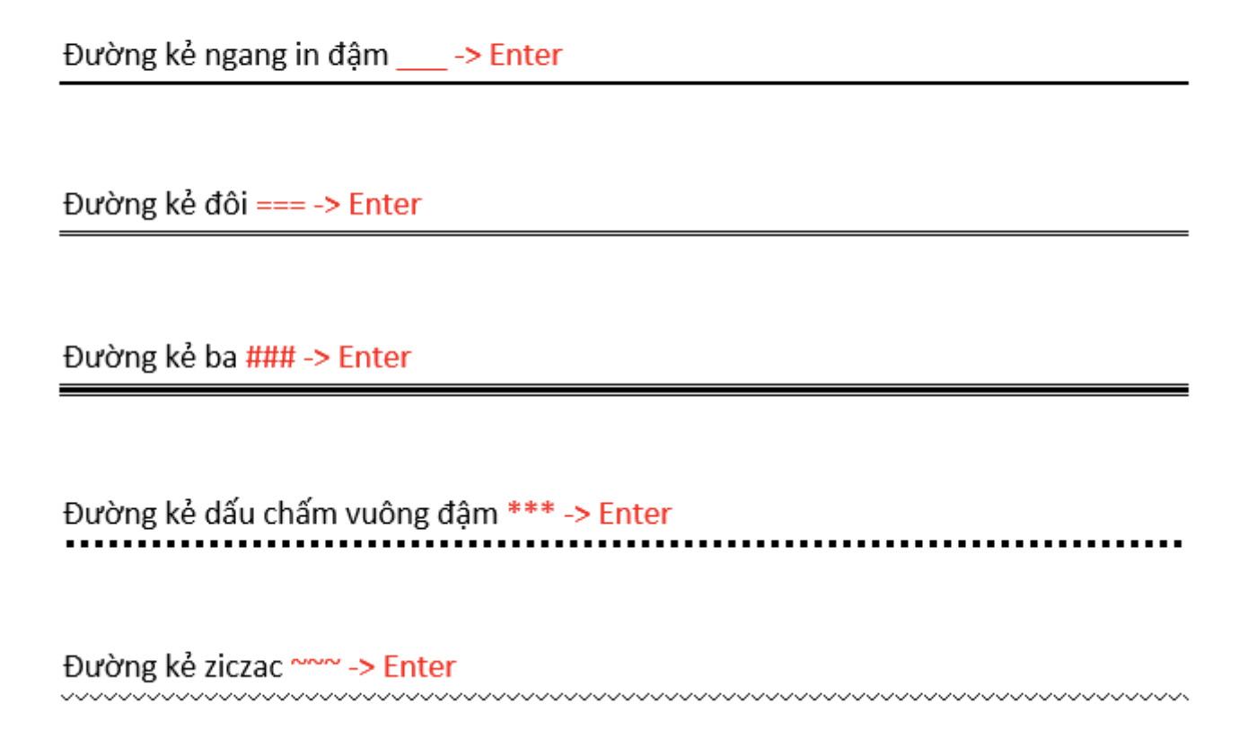 Cách tạo đường kẻ ngang trong Word 4