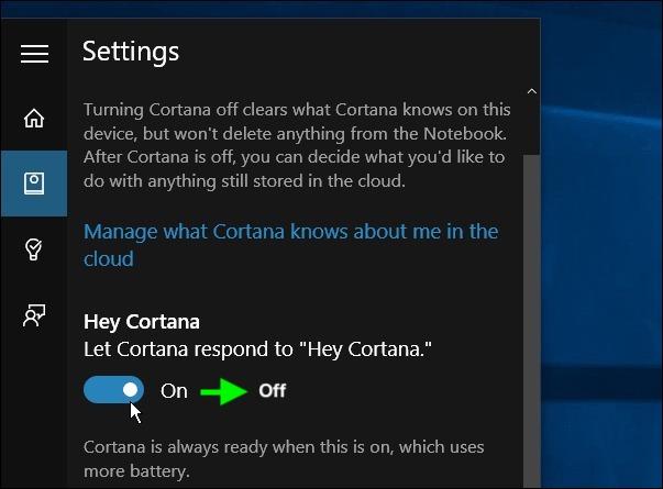 Cách bật Cortana trên Win 10.