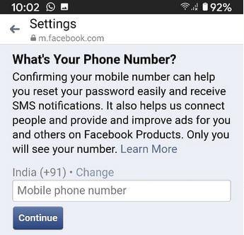 Cách đổi số điện thoại Facebook trên Messenger 14