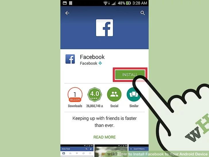 Cách tải Facebook cho Android để kết bạn với người thân quen 5