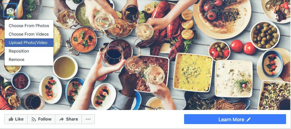 Mẹo tải video làm ảnh bìa Facebook Page chỉ trong 5 bước