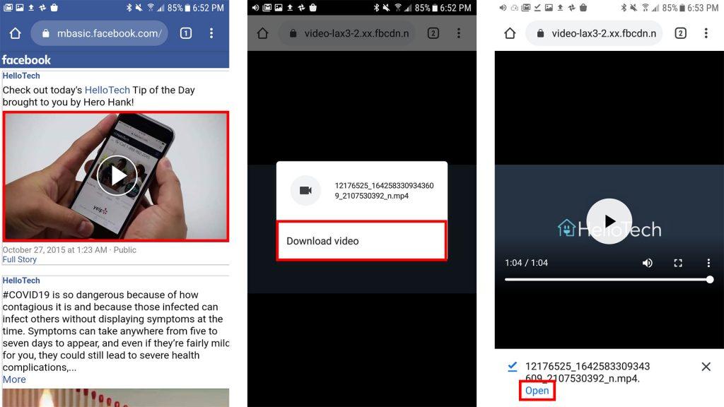 Tất tần tật cách lưu video trên Facebook về điện thoại 2