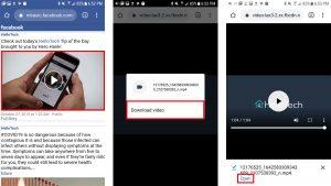Tất tần tật cách lưu video trên Facebook về điện thoại 9