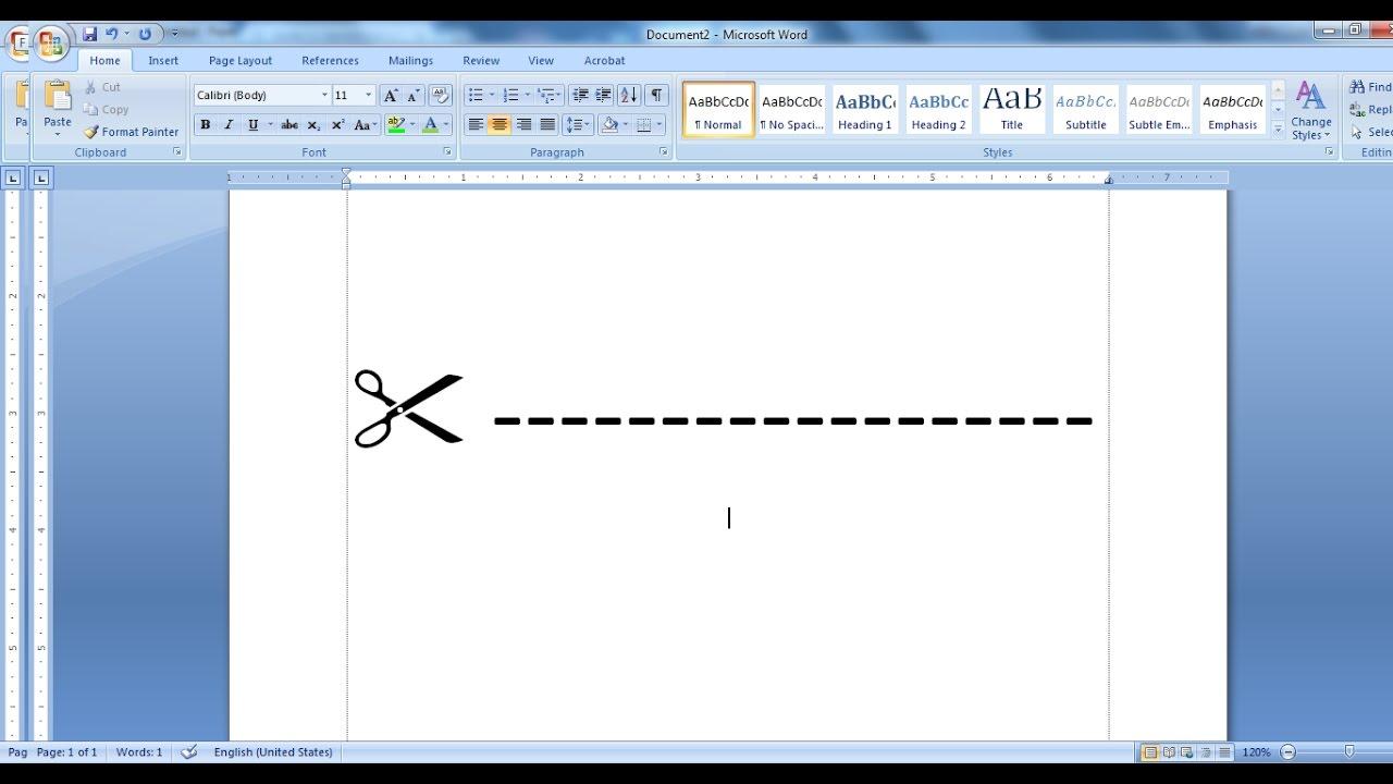 Cách tạo đường kẻ ngang trong Word