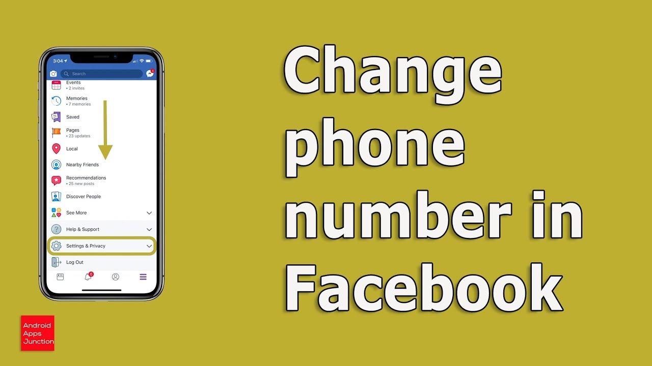Cách đổi số điện thoại Facebook trên Messenger.