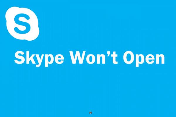 không mở được Skype
