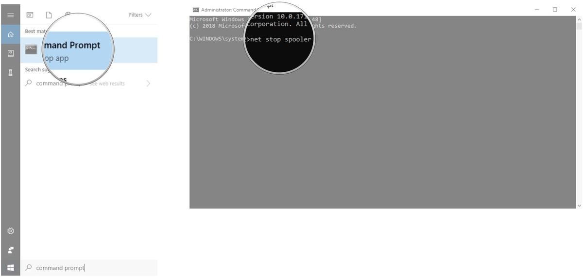 Cách hủy lệnh in trong Windows 10.