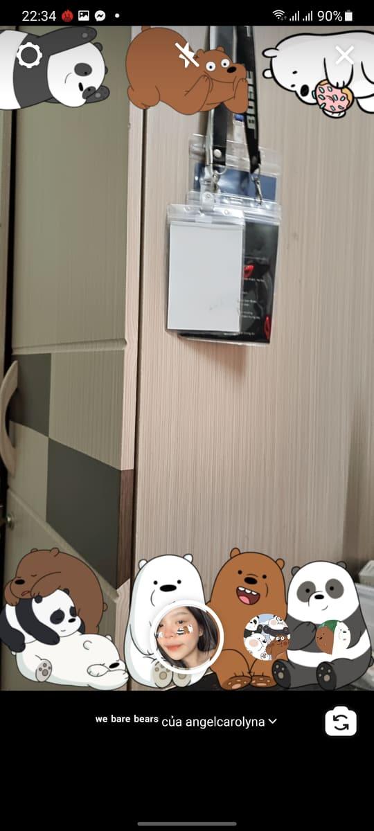 Hướng dẫn chụp hình có 3 con gấu trên mặt bằng app Instagram 14