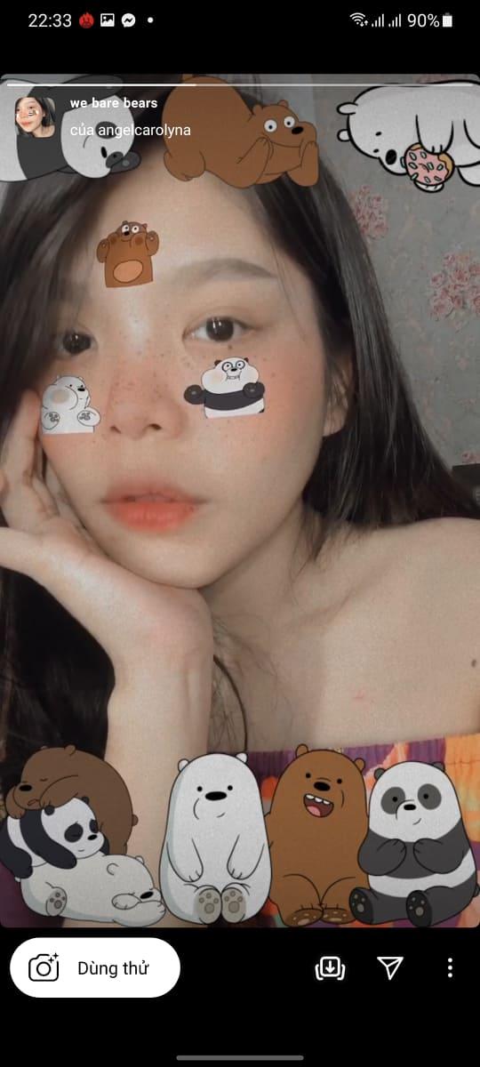 App chụp hình có 3 con gấu trên mặt là app gì? 13