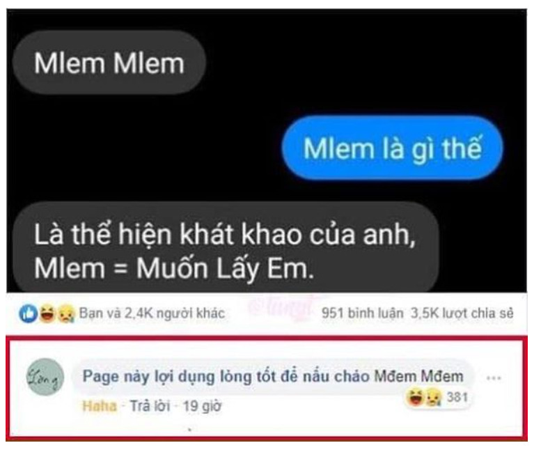 Mlem Mlem là gì? Nguồn gốc và ý nghĩa của Mlem Mlem trên Facebook 4