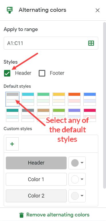 Cách tô màu dòng xen kẽ trong Google Sheets nhanh nhất, chỉ 2 click là xong 5
