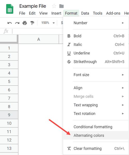 Cách tô màu dòng xen kẽ trong Google Sheets nhanh nhất, chỉ 2 click là xong 4