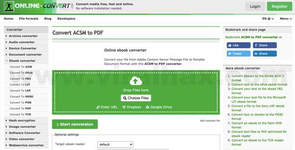 Công cụ chuyển đổi file ACSM sang PDF trực tuyến miễn phí 5