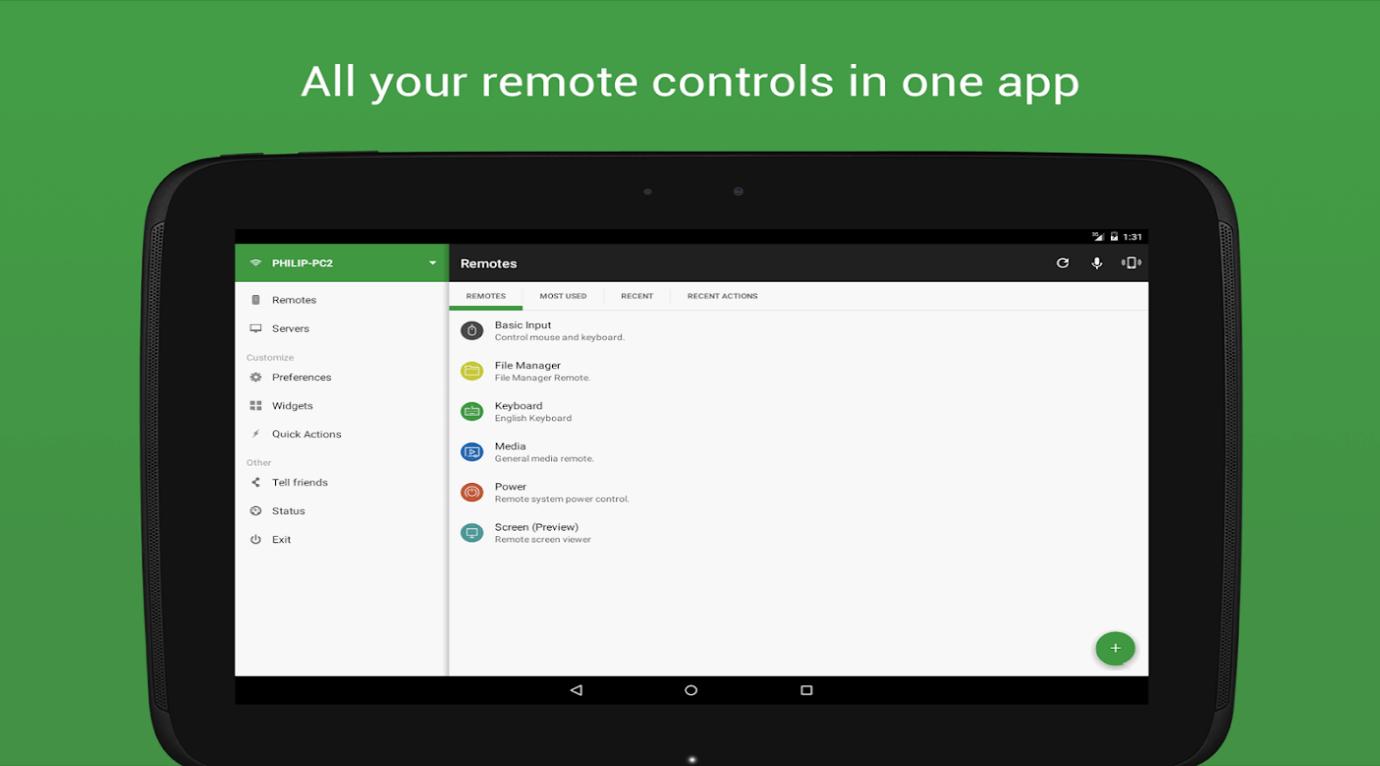 điều khiển máy tính bằng điện thọa Android qua Wifi 05