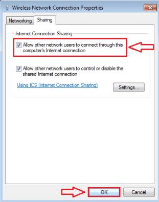 Hướng dẫn chia sẻ mạng từ máy tính cho Android qua USB 3