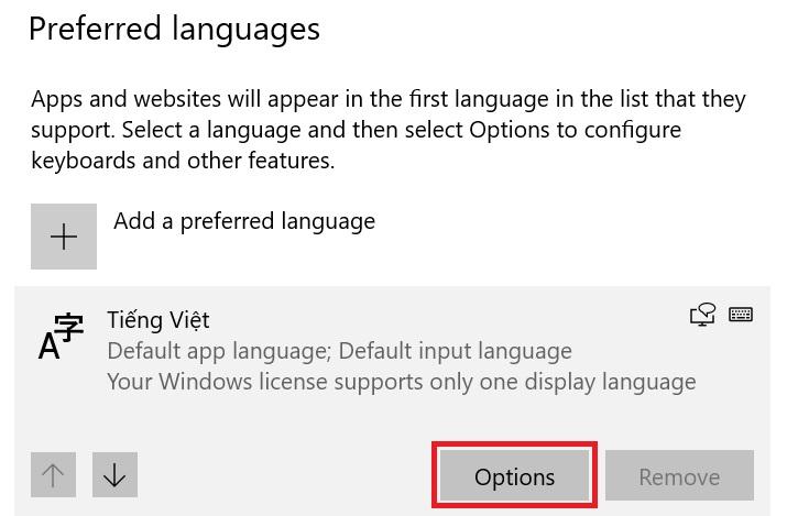 Thủ thuật cài tiếng Việt cho Windows 10 19
