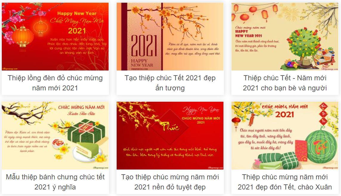 Năm hết tết đến rồi, đừng mua nữa mà hãy tạo thiệp chúc mừng năm mới 2021