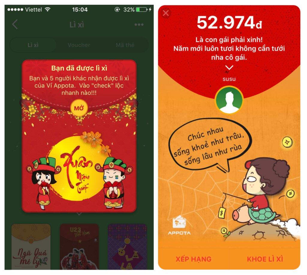 Top 3 app lì xì online giúp bạn trao gửi yêu thương khi Tết cận kề 4