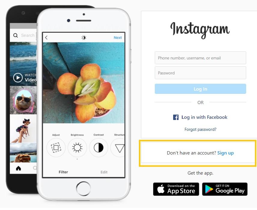 Cách đăng ký Instagram bằng máy tính nhanh chóng