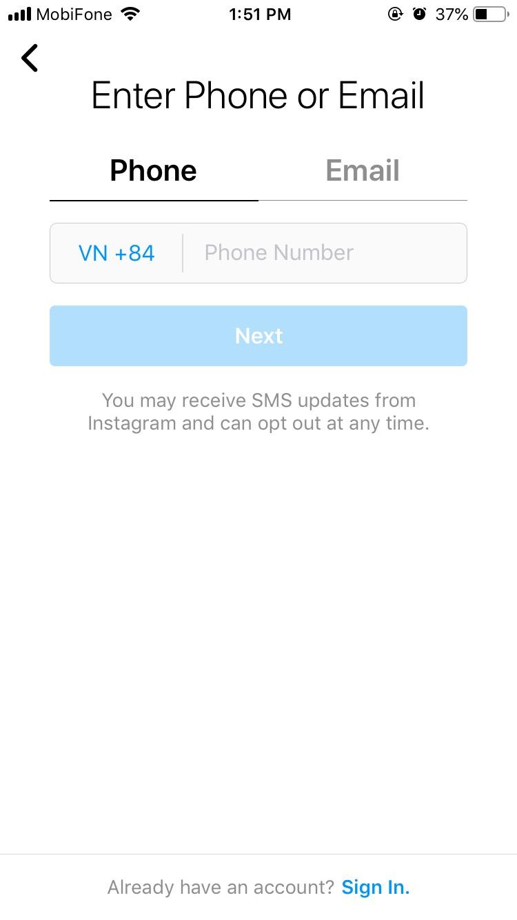 Các bước đăng ký Instagram cho người mới bắt đầu